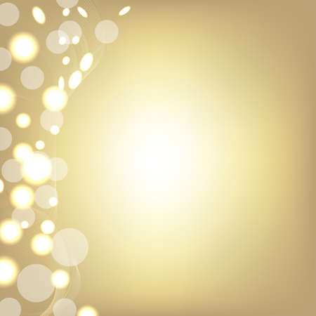 Golden Background With Bokeh And Blur, Vector