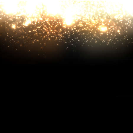 champagne celebration: Gold Abstract Dark Elegant Background Illustration