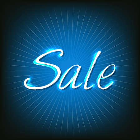 christmas promotion: Blue Sale Poster With Text, Illustration