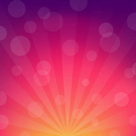 sunburst: Color Sunburst And Abstract Background, Illustration Illustration