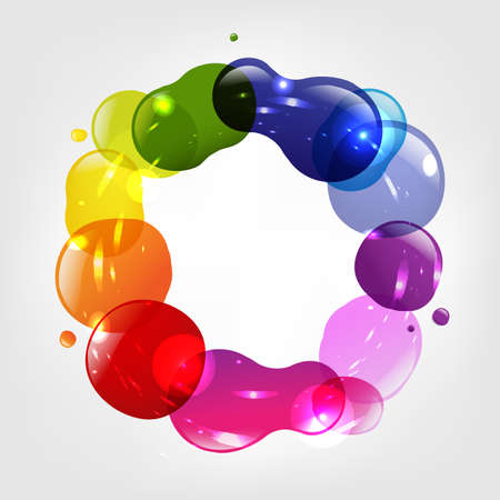 Dialog Balloon And Color Blobs, Vector Illustration Vector