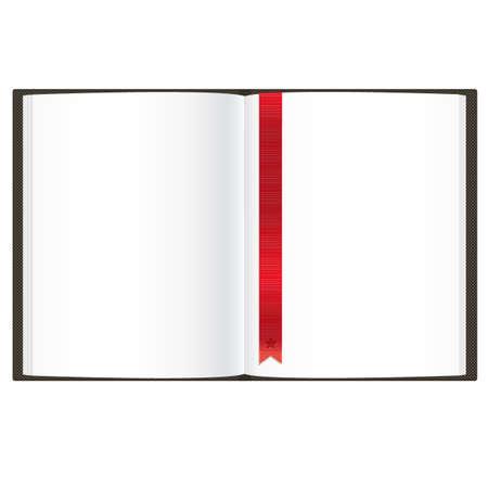 leeres buch: Leeres Buch, Isoliert Auf Wei�em Hintergrund, Vektor-Illustration