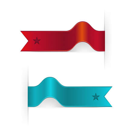 Set Of Ribbons, Isolated On White Background, Vector Illustration