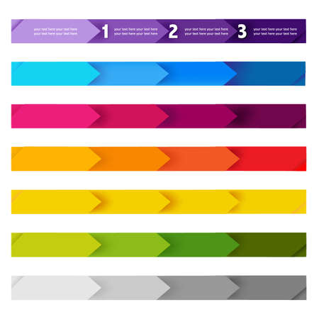 banner design: Lines And Numbers Website Design Elements,  Illustration