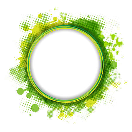 Speech Bubble With Green Blob, Isolated On White Background,  Illustration Stock Vector - 14651965