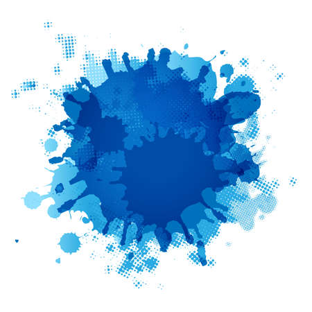 Blue Blob, Isolated On White Background Illustration Stock Vector - 15069703