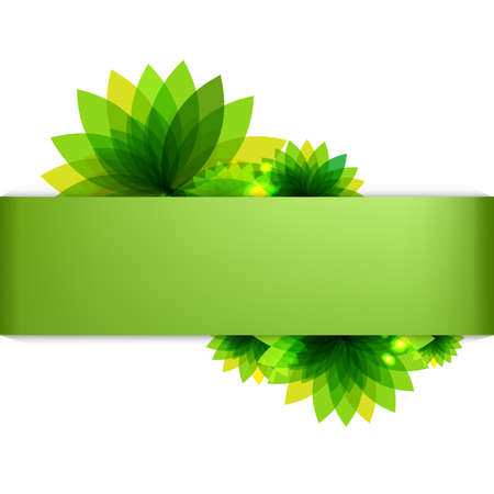 Green Backgrounds Set With Abstract Flowers Illustration Stock Vector - 15069720