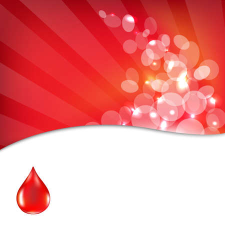 blood donation: Red Background With Drop Blood Illustration