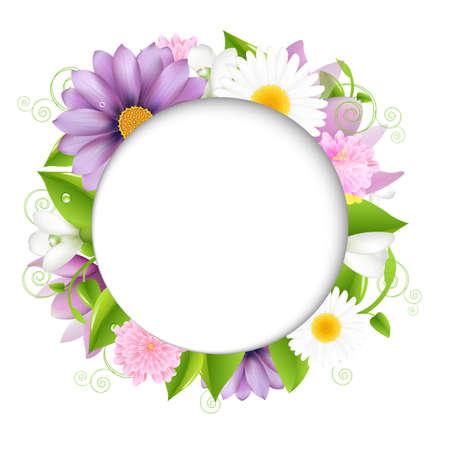 Summer illustration With Color Flower Illustration Stock Vector - 15069727