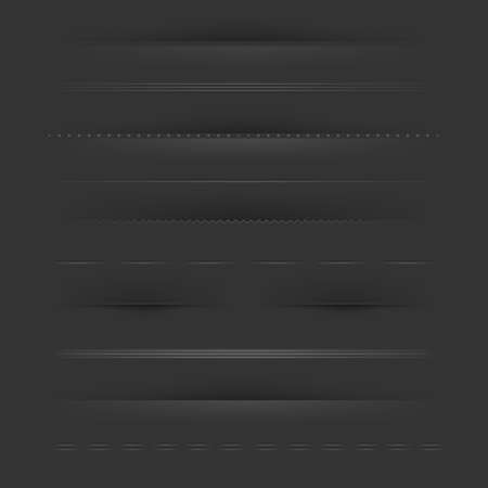 Big Set Of Dividers On Dark Stock Vector - 15153103