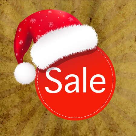 moroz: Christmas Banner With Santa Claus Hat, Illustration