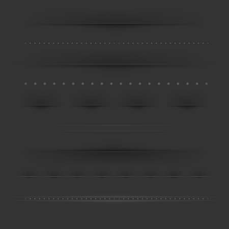 Set Of Dividers On Dark Stock Vector - 15153105
