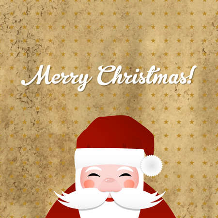 Greeting Retro Card With Santa Claus Stock Vector - 15421548