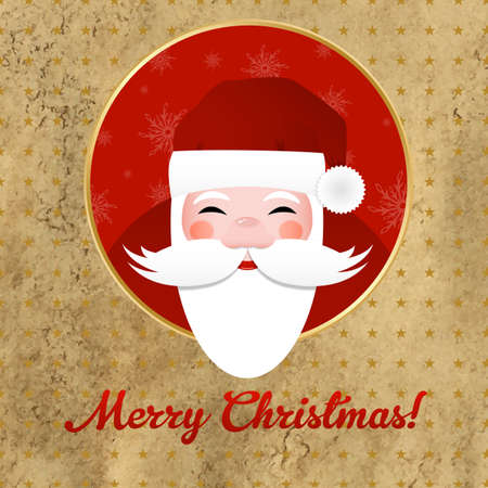 Greeting Retro Card With Santa Claus Vector