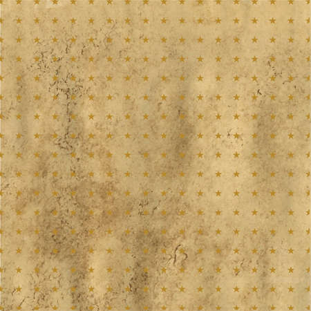 fabrick: Old Paper Vintage With Stars, Isolated On White Background