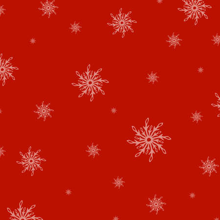 Red New Years Background With Snowflake, Vector Illustration Stock Vector - 15539616