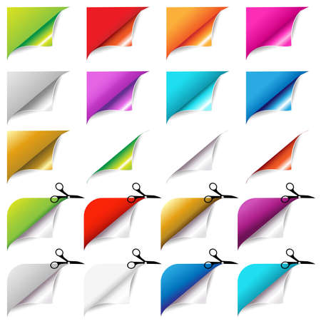 Big Colorful Corners Set, Isolated On White Background Stock Vector - 15563530