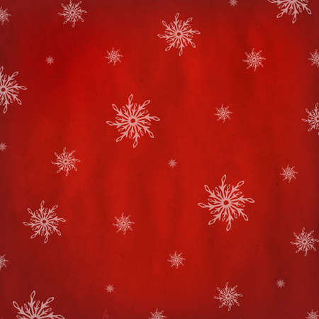 Red Christmas Background With Snowflakes Stock Vector - 15563533