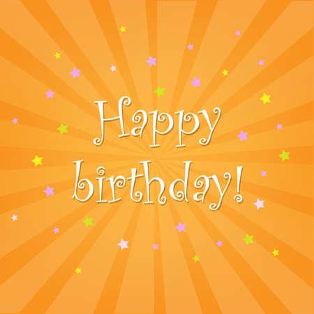 Happy Birthday Card With Stars Vector