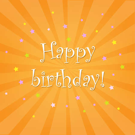 Happy Birthday Card With Stars