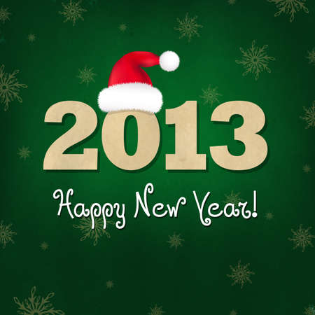 New Years Composition With Santa Hat, Illustration Vector