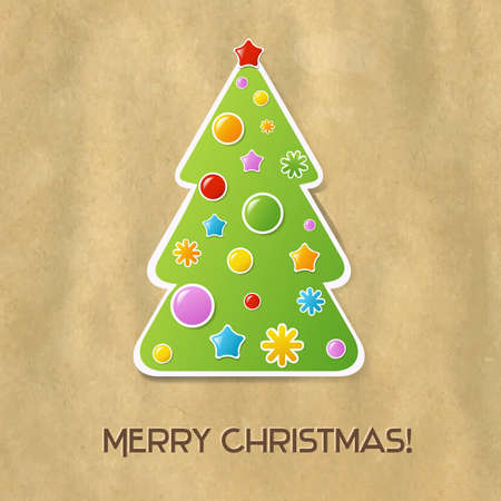 Christmas And New Year Card, Vector Illustration Stock Vector - 15976114