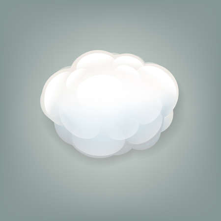 firmament: Cloud Icon With Gradient Mesh,  Illustration