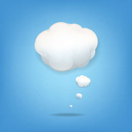 sky clouds: Cloud Icon With Gradient Mesh,  Illustration