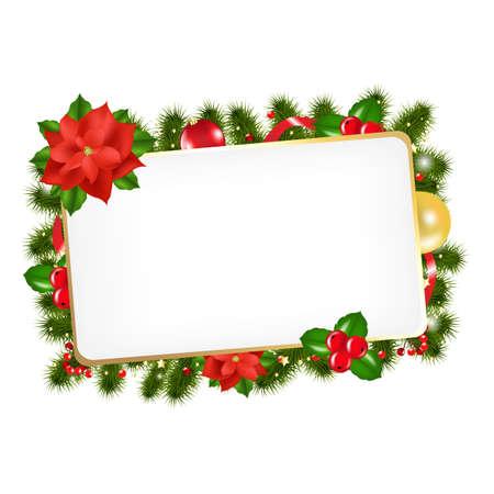 Weihnachten Vintage-Blank Gift Tag Mit Gradient Mesh, Illustration Standard-Bild - 16448635