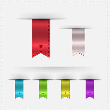 Dividers And Color Ribbons With Gradient Mesh, Vector Illustration Vector