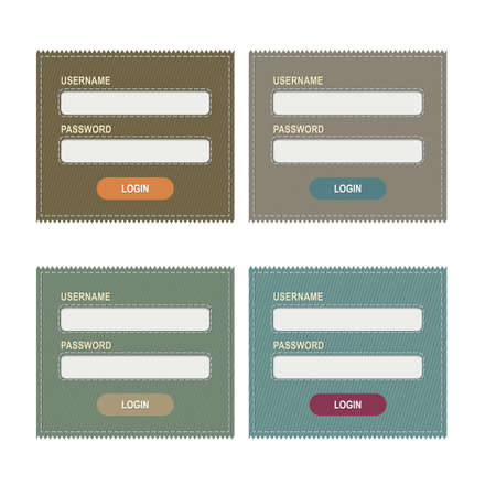 4 Logins Form, Isolated On White Background, Vector Illustration Vector