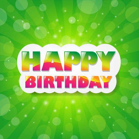 Birthday Green Sunburst Background With Gradient Mesh, Vector Illustration Stock Vector - 17910669