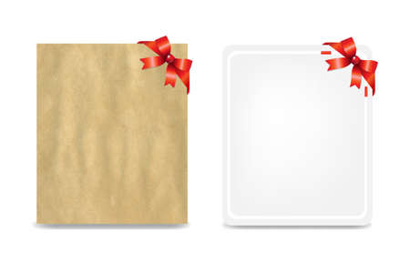 2 Blank Gift Tags With Gradient Mesh, Illustration Stock Vector - 17910876