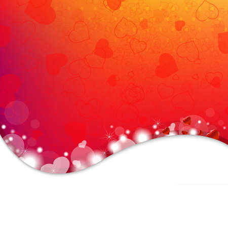 Bright Background From Red Hearts With Gradient Mesh,Illustration Vector