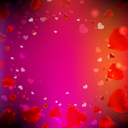 Happy Valentines Day Card With Blur With Gradient Mesh, Vector Illustration Stock Vector - 17910686