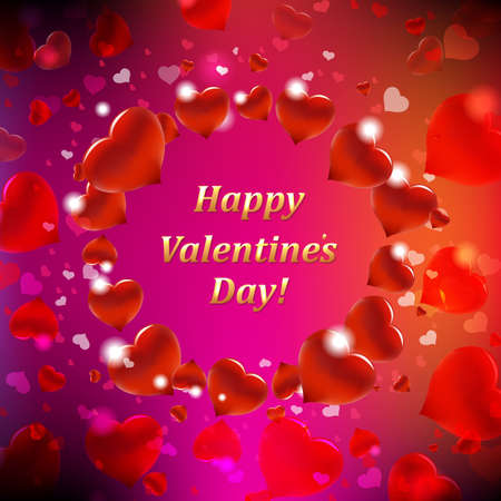 Happy Valentines Day Card With Bokeh With Gradient Mesh, Vector Illustration Stock Vector - 17910673