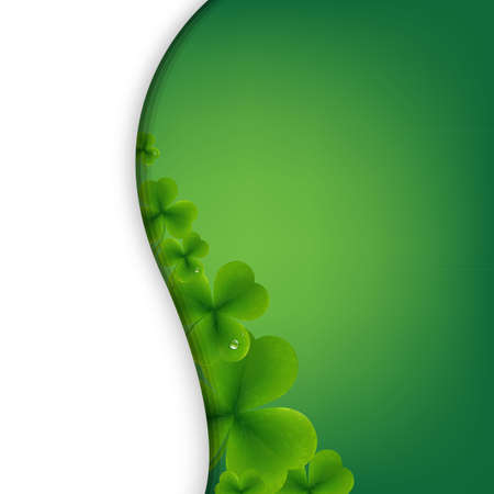 alehouse: Patrick Day Green Wallpaper With Gradient Mesh, Vector Illustration