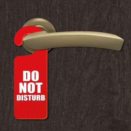 Do Not Disturb teken met Gradient Mesh, Vector Illustratie Stock Illustratie