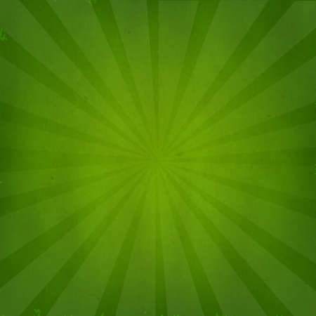 Green Grunge Background Texture With Sunburst With Gradient Mesh, Isolated On Green Retro Background, Vector Illustration Vector
