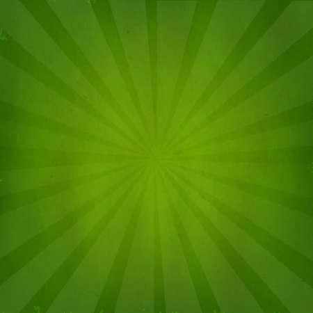 Verde grunge texture di sfondo con Sunburst con gradiente maglie, isolato su verde retrò sfondo, illustrazione vettoriale