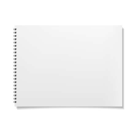 notebook paper background: Notebook, Isolated On White Background, Vector Illustration