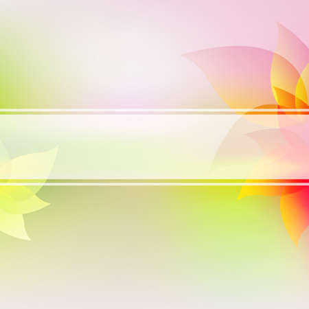 Pastel Flowers Background With Gradient Mesh, Vector Illustration