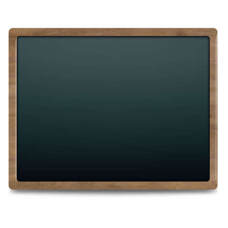 chipboard: Black Chalk Board, Isolated On White Background, Illustration