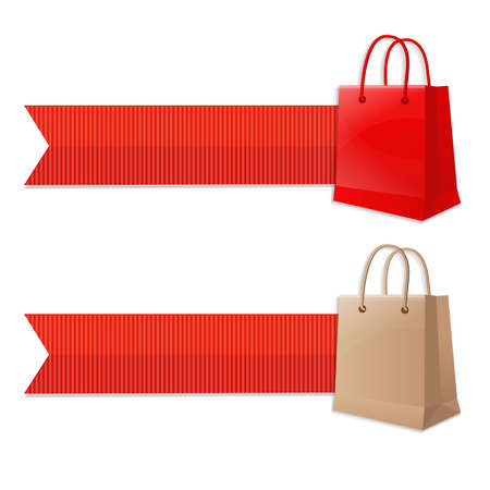 retail shop: Bag With Ribbon,  Illustration