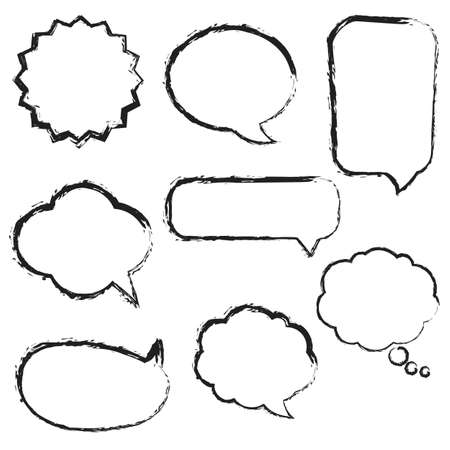 Big Set Speech Bubbles, Isolated On White Background, Vector Illustration Stock Vector - 19985965