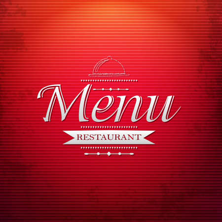 Red Menu Background, With Gradient Mesh, Vector Illustration