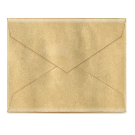 old envelope: Retro Envelope, With Gradient Mesh, Vector Illustration