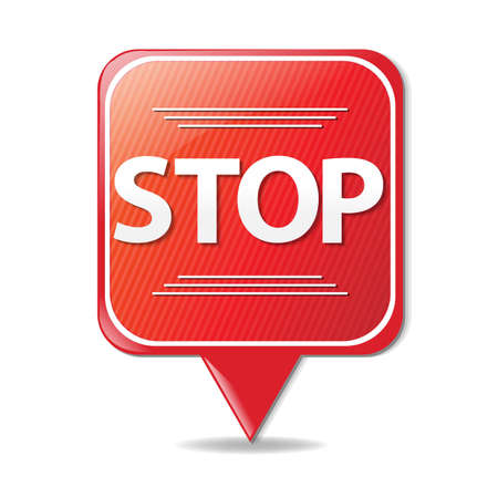 motorist: Sign Stop With Gradient Mesh, Vector Illustration