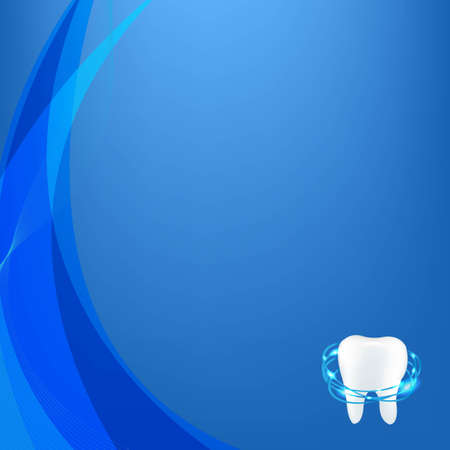 carious: Tooth Blue Dinamic Background With Gradient Mesh, Vector Illustration