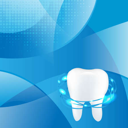 Tooth Blue Dinamic Background With Gradient Mesh, Vector Illustration Vector